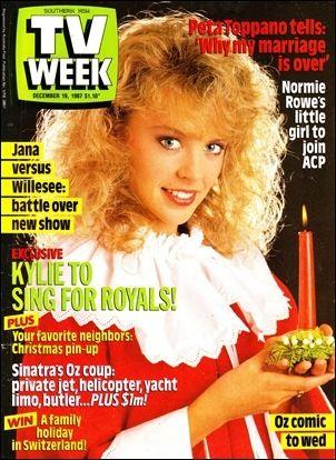 Tony Barber and Alyce Platt (Sale Of The Century). TV Week, 1986. tvweek_191287. Kylie Minogue (Neighbours). TV Week, 1987.Visit pageView image
