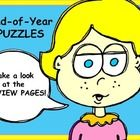 This+product:+End+of+Year+PUZZLES+includes+7+Puzzles.+Take+a+look+at+the+PREVIEW+PAGES.+Great+for+centers!  Includes: *+2+Cross+Word+PICTURE+Puzzle...