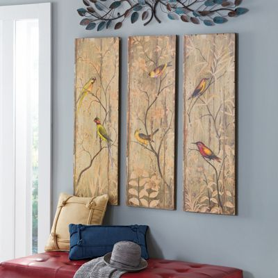Calima Bird Triptych Art Pinterest Wall Decor For