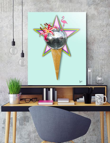Discover «DISCO ICE CREAM», Numbered Edition Acrylic Glass Print by Gloria  Sánchez - From 70€ - Curioos