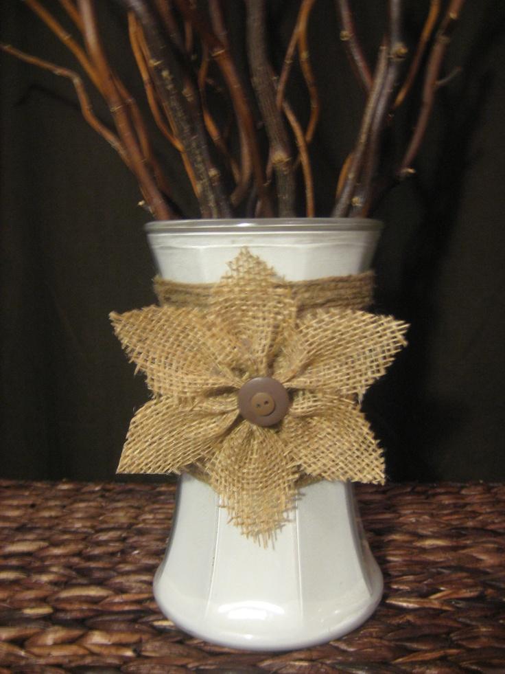 17 best images about burlap flowers on pinterest burlap for Decorative burlap fabric