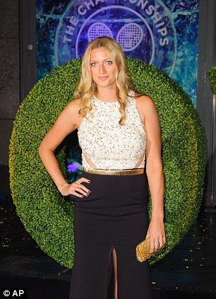 Petra Kvitova arriving at the Wimbledon Champions Dinner...dressed by www.havingaballdresshire.co.uk