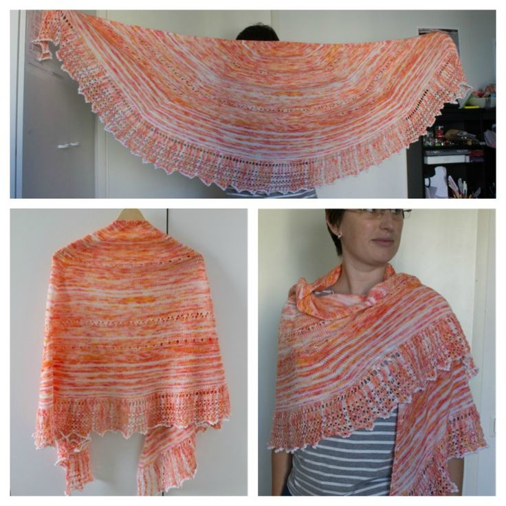 Sunset Shawl -  english, français