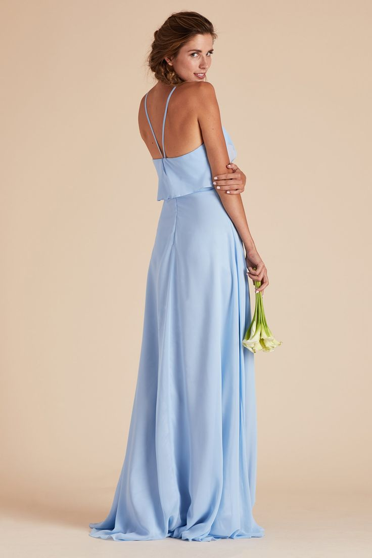 9 best cinderella blue gowns images on pinterest cinderella light blue bridesmaid dress under 100 by birdy grey julia ruffle chiffon halter bridesmaid gown ombrellifo Choice Image