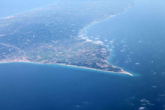 Possidi cape, airplane view in April 2015. #Possidi_cape #Possidi_beach