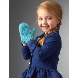 Sizes: 2 to 12 years. Free knitting pattern. Pattern category: Mittens and Gloves. Aran weight yarn. 150-300 yards. Features: Colorwork. Easy difficulty level.
