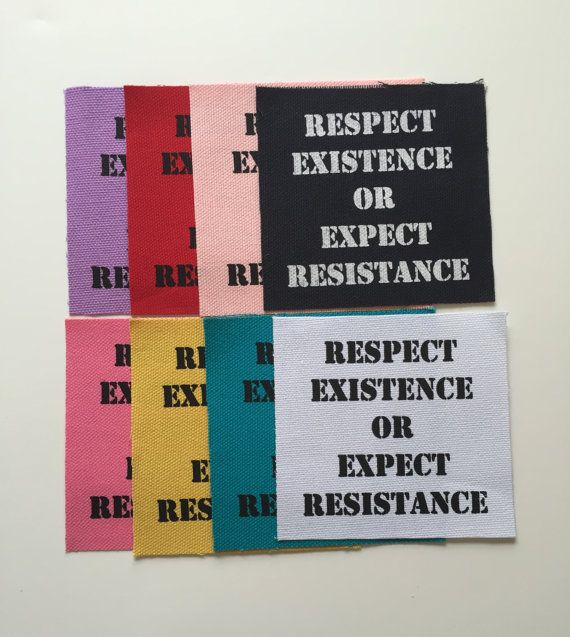 Respect Canvas Fabric Patch Punk Rock by InfiniteDreamsDesign