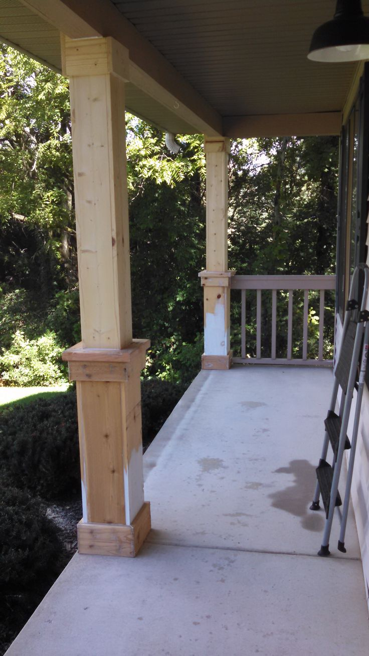 Front porch ideas traditional porch los angeles - Beefing Up The Porch Columns Part 1 Of A Gazillion
