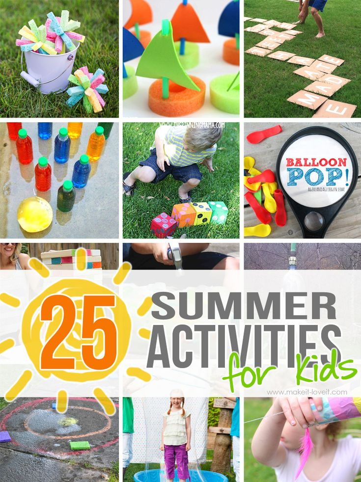 25 Outdoor Summer Activities for Kids.....beat the summer boredom with these really fun and inexpensive ideas to help kids enjoy their summer months!
