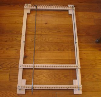 ~~Do you have a lot of unused material? Old sheets, jeans, slacks, curtains...you can turn them into new items for your home or gifts for others!~~ This Twining Loom was made to specifications of a long time Twiner to use for twining different size items with one loom that can be assembled or disassembled without tools and easily stored!  Learn to Twining Here These Looms are made individually as ordered. Please allow 7-14 days to process and ship.  ​ Thank you so much.