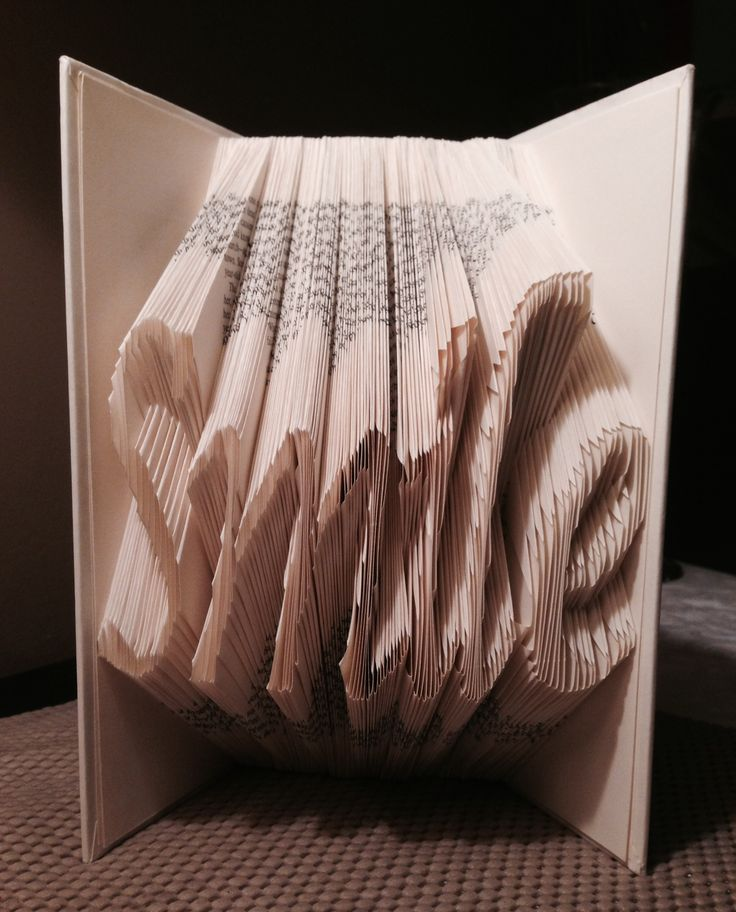 Smile, Shadow book/Folded book art