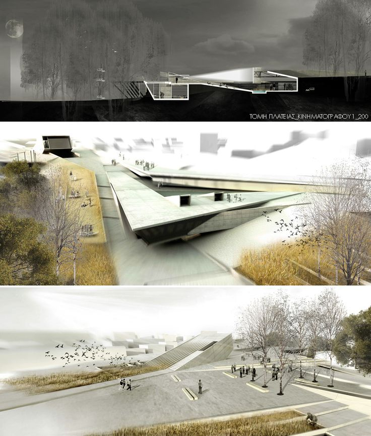Urban Park of Palouriotissa , Latsia, Cyprus Architectural Competition | #architecture #presentation #board #visualization #competition #3d #renders #perspectives #section