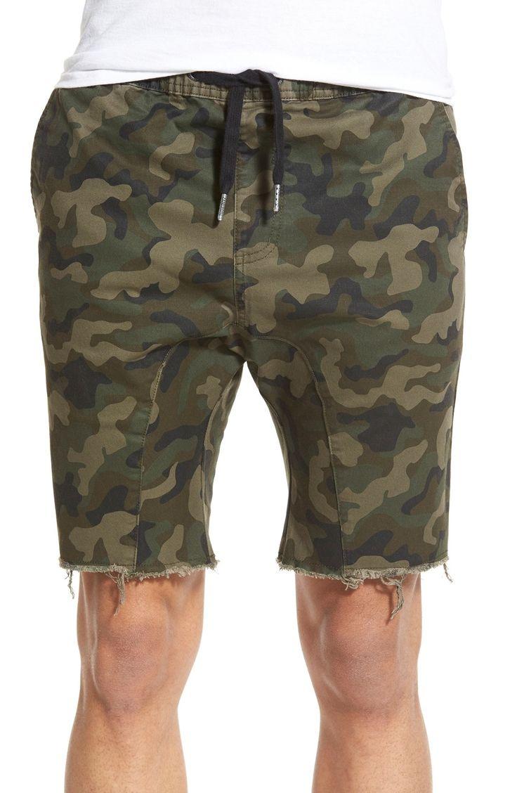 'Sureshot' Camo Print Shorts