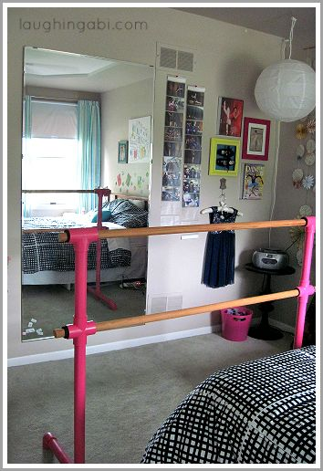 DIY ballet barre and mirror: Phase 2 | laughingabi.com