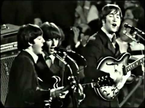 The Beatles   Nowhere Man 1966 HQ. Another great video for those who like to look at the most perfect mouth God every endowed a man with--Georges of course ;)~ A plus is John's comedy at the start: People were always throwing things at them on stage, especially 'jelly babies' because of comments from John that he and George liked them. George got hit in the eye with one once & wrote a fan to stop doing that. It was also a major reason they quit touring.