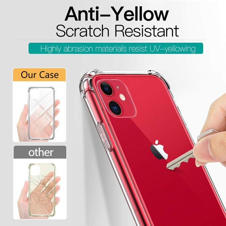Cheapest iphone 11 pro max clear bumper case anti yellow