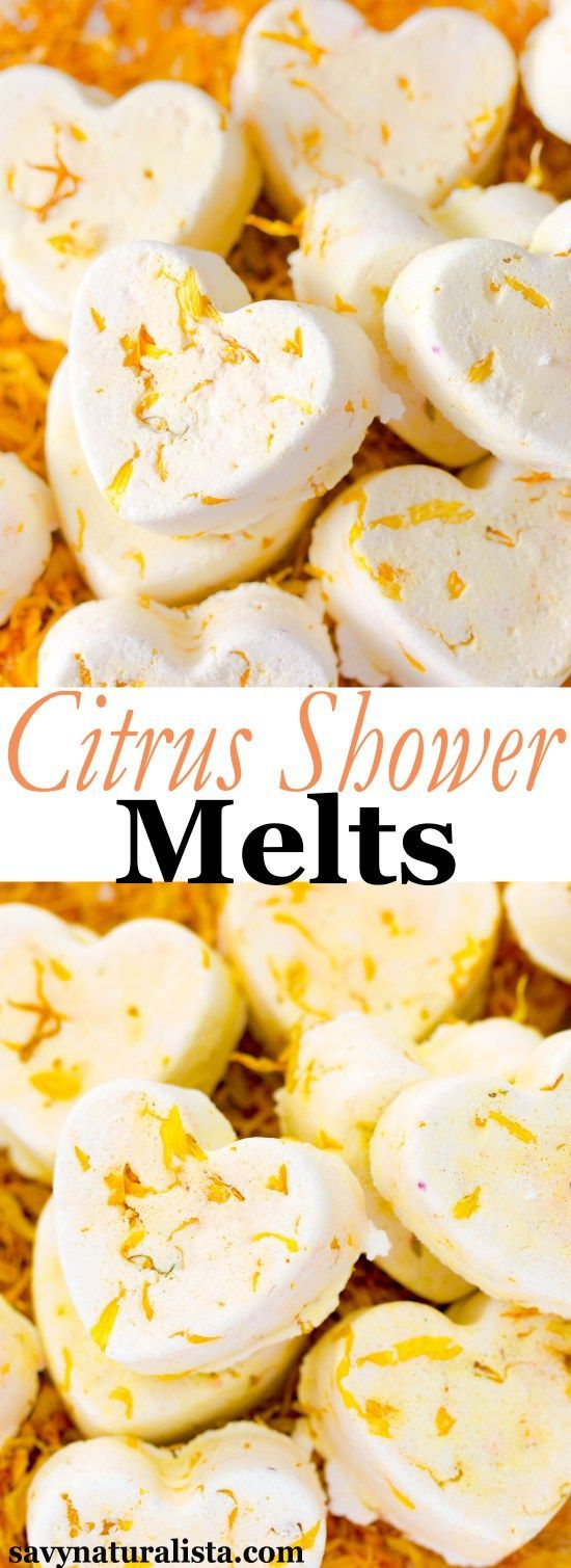 Take advantage of this citrus season and invigorate your shower with these lovely citrus shower melts.