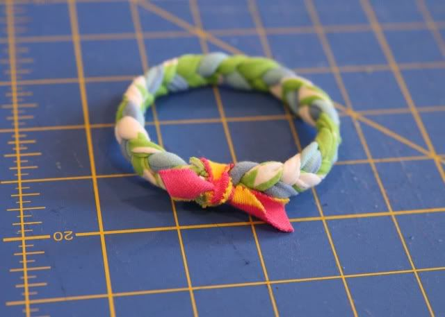 Upcycled Recycled t-shirt bangles