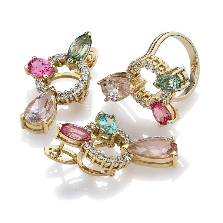 Ювелирный постер Diamond Jewelry. Ювелирные украшения с драгоценными камнями. Jewellery Photography