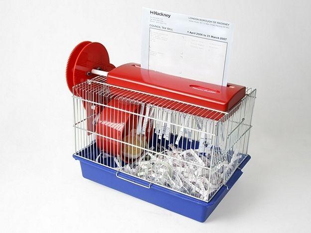Hamster Cage Shredder.   Via: tomballhatchet.com