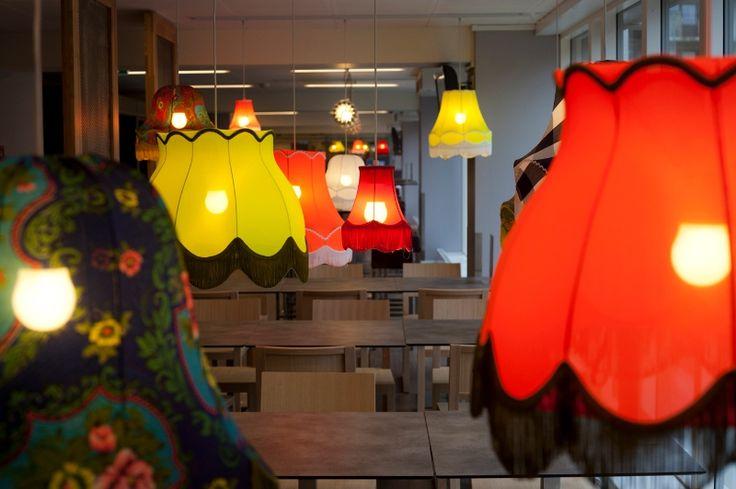 Lamp Shade Pendants | Generator Hostels - Copenhagen