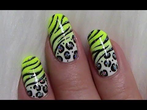 Sommerliches Leo - Tiger Muster Nageldesign / Wild Summer Animal Nail Art Design Tutorial - YouTube