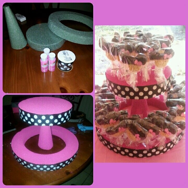 DIY cake pop holder. I made this for a Minnie Mouse themed party. Received a lot of compliments on it.