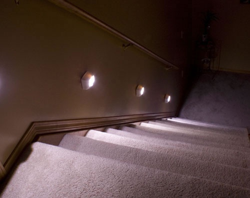 Lighting Basement Washroom Stairs: 12 Best Basement Stairway Lighting Images On Pinterest
