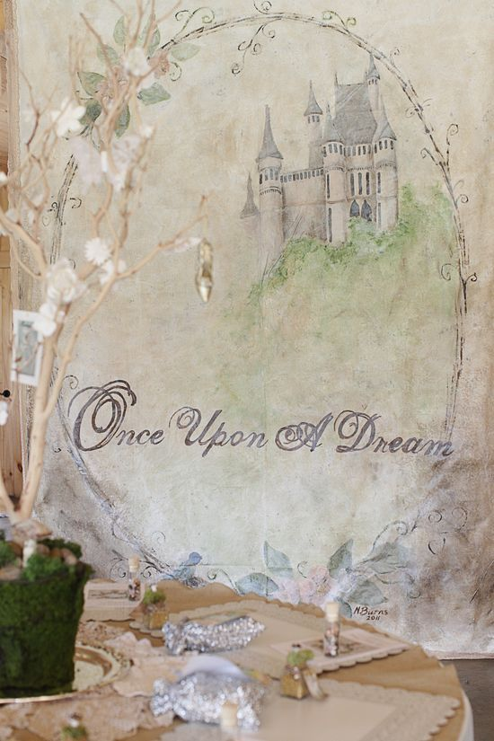 Once upon a dream..I made this mural in my upstairs bath for the venetian amethyst bedroom