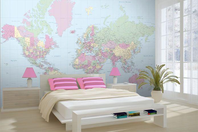 129 best world map wallpaper images on pinterest world maps world wallpapered pinkclassicmap world map wallpaper by wallpapered gumiabroncs Choice Image