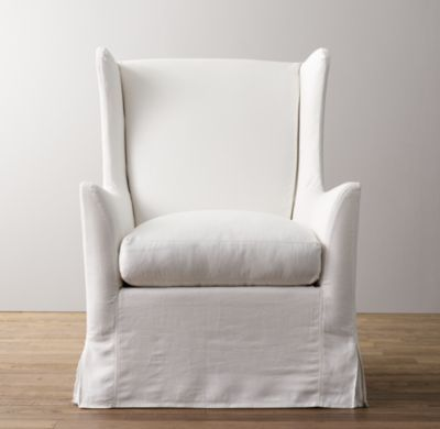 Wingback Swivel Glider with Slipcover | Nursery Seating | Restoration Hardware Baby & Child