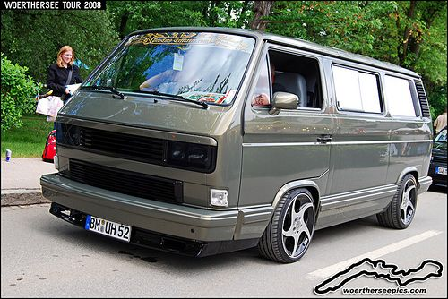 Lowered Grey VW T3 at the Wörthersee Tour 2008