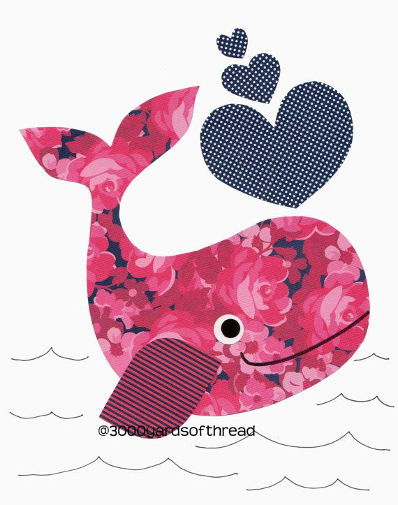 Nautical Pink and Navy Blue Whale Nursery art prints baby decor kids wall art children wall little boys room little girl hearts