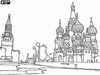 Symbols of Russian cities stock vector. Illustration of ... |Moscow City Coloring