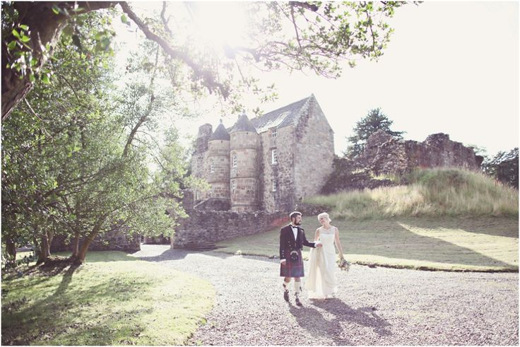 Walking back from our 13th century castle!