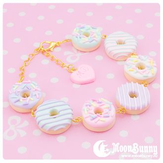 """""""Sweet donuts"""" Bracelet by Moon Bunny                                                                                                                                                     More"""