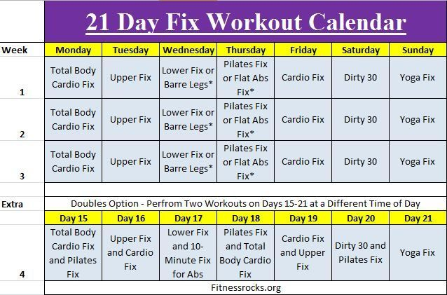 Ready to lose those unwanted love handles in 21 days ? Autumn Calabrese has put together 30 minute sessions in the 21 Day Fix Workout Calendar and a crazy simple diet plan using containers to teach anyone how to lose weight. See details inside