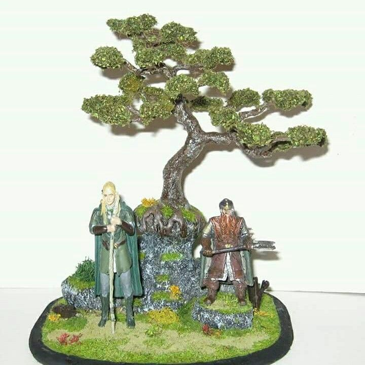 Diorama Lord of the ring - Legolas si Gimli