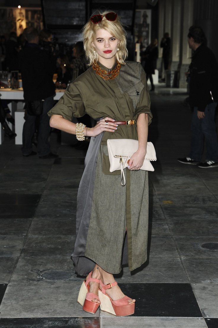 Pixie Geldof rocked khaki head to toe at our AW12 Unique show at London Fashion Week. #Topshop #LFW