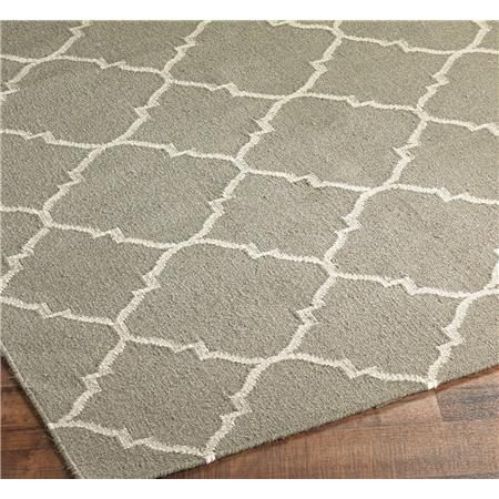 Gray diamond rug.