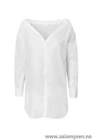Kjøp billige 2ND DAY White Skjorter & bluser Hvit Haris Skjorte QV80CZ7145 - Kvinner Klær