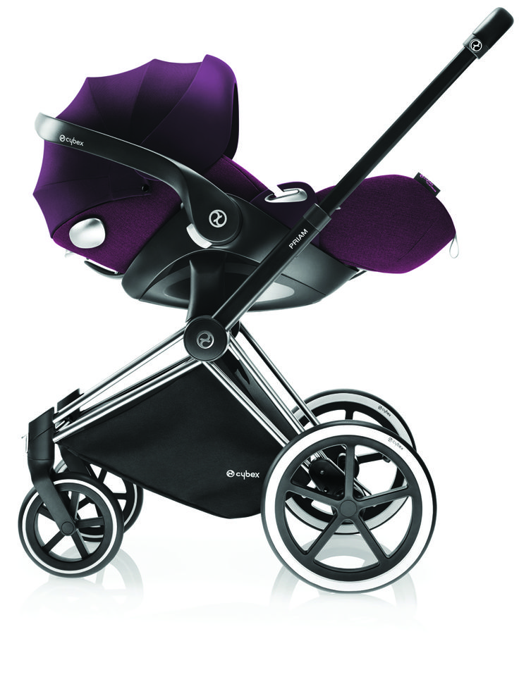 Cybex Priam Travel System with the Cybex Cloud Q car seat.  Transport your baby in style. Visit Molly and Boo, Disley to see the complete travel system now. 01663 742656