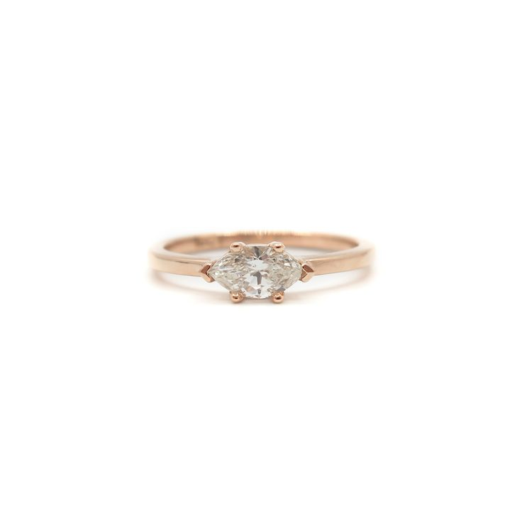Marquise rose gold ring | Dear Rae | Commission  #DearRae #DearRaeJewellery #EngagementRing #MarquiseDiamond
