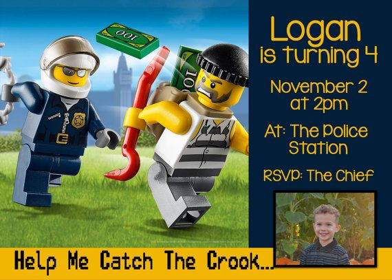46 best Lego City Fire PD anything else images – Lego City Birthday Invitations