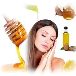 Mascarilla para nutrir el Cabello  Ingredientes:  1 cucharada de miel de abejas 1 cucharada de aceite de coco 1 cucharada de aceite de almendras el jugo de media naranja una cucharada de cristal de sábila