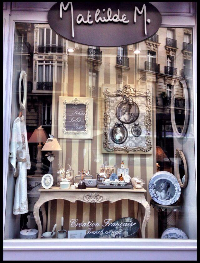 Lovely storefront of Mathilde M. Boutique - Paris, France