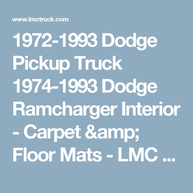 1993 Dodge Ramcharger Interior: 25+ Best Ideas About Lmc Truck On Pinterest