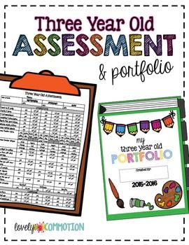 UPDATED!This Assessment and Portfolio packet was make for children three years of age. The assessment pieces were designed to be used 3 times a year, September, January and May.Included in this Packet:-In depth instructions-Assessment Recording Sheet-16 assessments/portfolio artifacts-Portfolio title pages-Parent Report*Please respect my time and creativity.