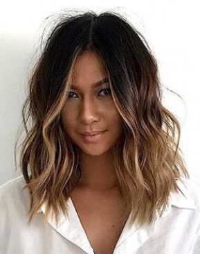 Derfrisuren.top Hair, short hair, wavy hair, ombre, balayage, natural hair, beauty waves. #hairi... Wavy waves short ombre natural hairi Hair beauty balayage