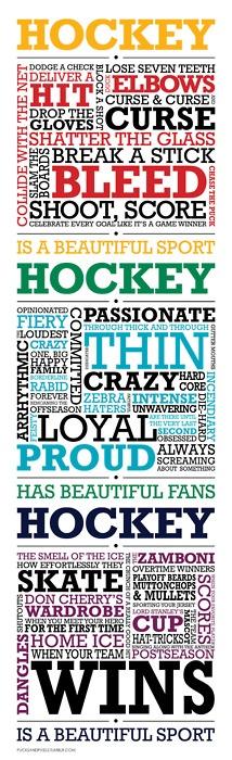 Love hockey season!